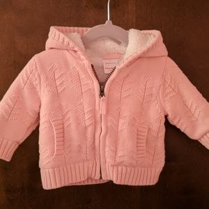 Hanna Andersson Sherpa Lined Hoodie 0-3 mo